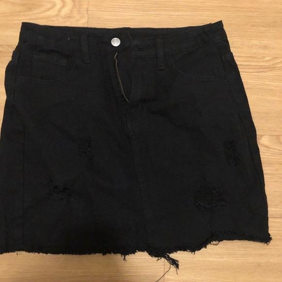 SHEIN Dresses & Skirts - Black Denim Skirt